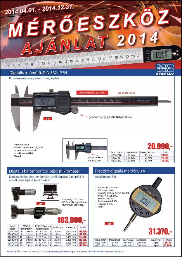 MIB 2014 Mérőeszköz ajánlat